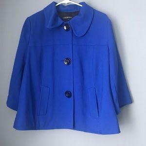 Lane Bryant Royal Blue 3/4 Sleeve Blazer